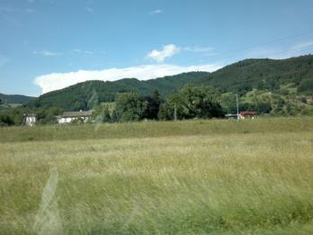 Panoramablick aus dem Auto